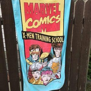 Vintage 90s Marvel comics xmen beach towel